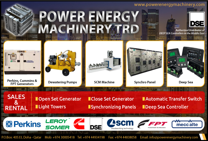 GENERATOR SUPPLIERS POWER ENERGY MACHINERY TRD SUPPLIERS IN DOHA QATAR CL1/2H