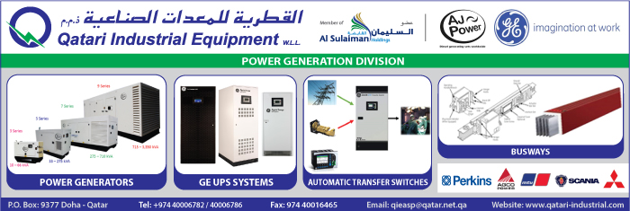 GENERATOR SUPPLIERS QATARI INDUSTRIAL EQUIPMENT WLL ( POWER GENERATION DIV ) SUPPLIERS IN DOHA QATAR CL1/4H