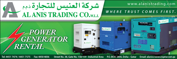 GENERATORS - HIRE AL ANIS TRADING CO WLL SUPPLIERS IN DOHA QATAR CL1/4H