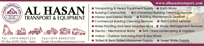 HEAVY EQUIPMENT - RENTALS AL HASAN TRANSPORT & EQUIPMENT SUPPLIERS IN DOHA QATAR CLPL