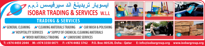 HOSPITALITY SERVICES ISOBAR TRADING & SERVICES WLL SUPPLIERS IN DOHA QATAR CLPL