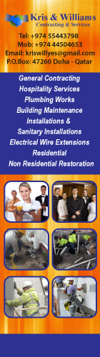 HOSPITALITY SERVICES KRIS & WILLIAMS CONTRACTING & SERVICES SUPPLIERS IN DOHA QATAR WSLBBA
