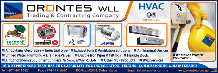 HVAC CONTRACTORS ORONTES TRADING & CONTRACTING WLL SUPPLIERS IN DOHA QATAR CL1/4H