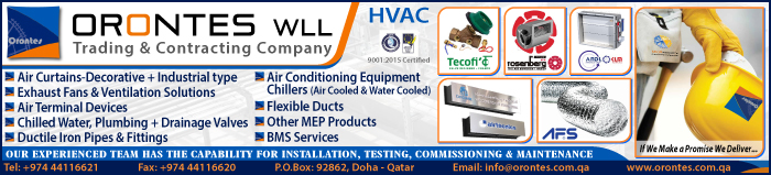 HVAC CONTRACTORS ORONTES TRADING & CONTRACTING WLL SUPPLIERS IN DOHA QATAR CLPL