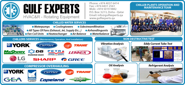 HVAC MAINTENANCE CONTRACTORS & SERVICES GULF EXPERTS ELECTROMECHANICAL CONTRACTING & TRADING WLL SUPPLIERS IN DOHA QATAR CL3H