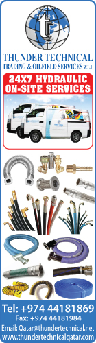 HYDRAULIC HOSES & FITTINGS THUNDER TECHNICAL TRADING & OILFIELD SERVICES WLL SUPPLIERS IN DOHA QATAR WSRBBA