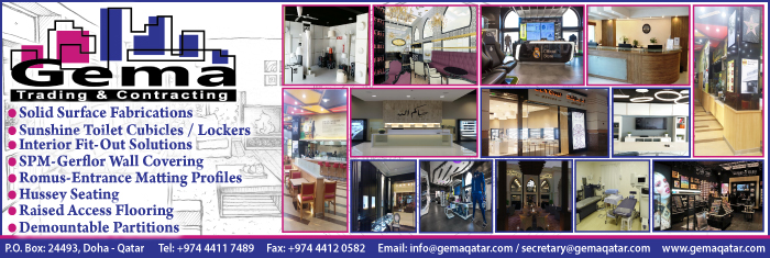 INTERIOR DECORATORS GEMA TRADING & CONTRACTING WLL SUPPLIERS IN DOHA QATAR CL1/4H
