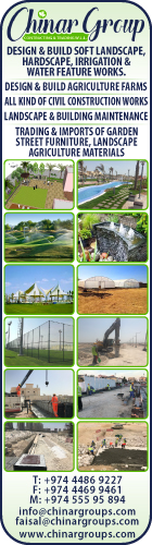 LANDSCAPING & IRRIGATION CHINAR GROUP CONTRACTING & TRADING WLL SUPPLIERS IN DOHA QATAR WSRBBA