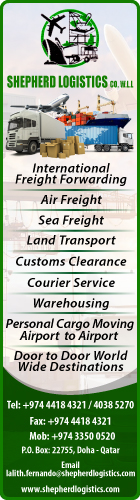 FREIGHT FORWARDING SHEPHERD LOGISTICS CO WLL SUPPLIERS IN DOHA QATAR WSLBBA