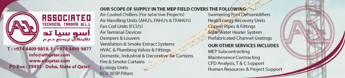 MEP CONTRACTORS ASSOCIATED TECHNICAL TRADING WLL SUPPLIERS IN DOHA QATAR CLPL