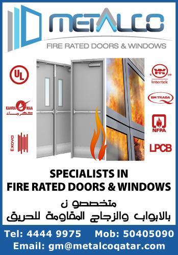 METALCO FIRE RATED DOORS & WINDOWS SUPPLIERS IN DOHA QATAR