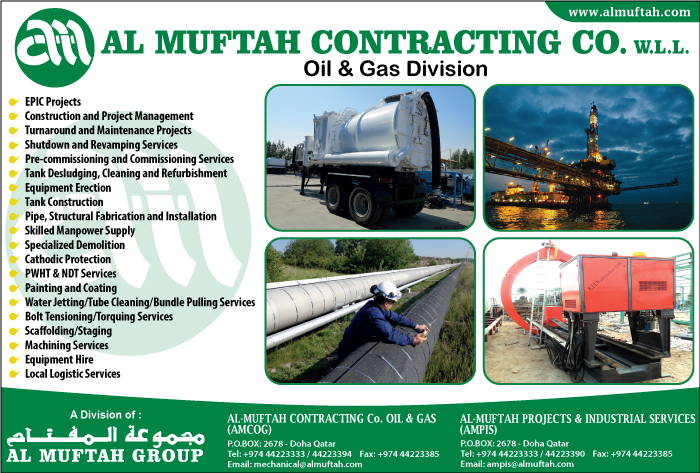 OIL & GAS CONSTRUCTION & MAINTENANCE CONTRACTORS AL MUFTAH CONTRACTING CO WLL ( OIL & GAS DIV ) SUPPLIERS IN DOHA QATAR