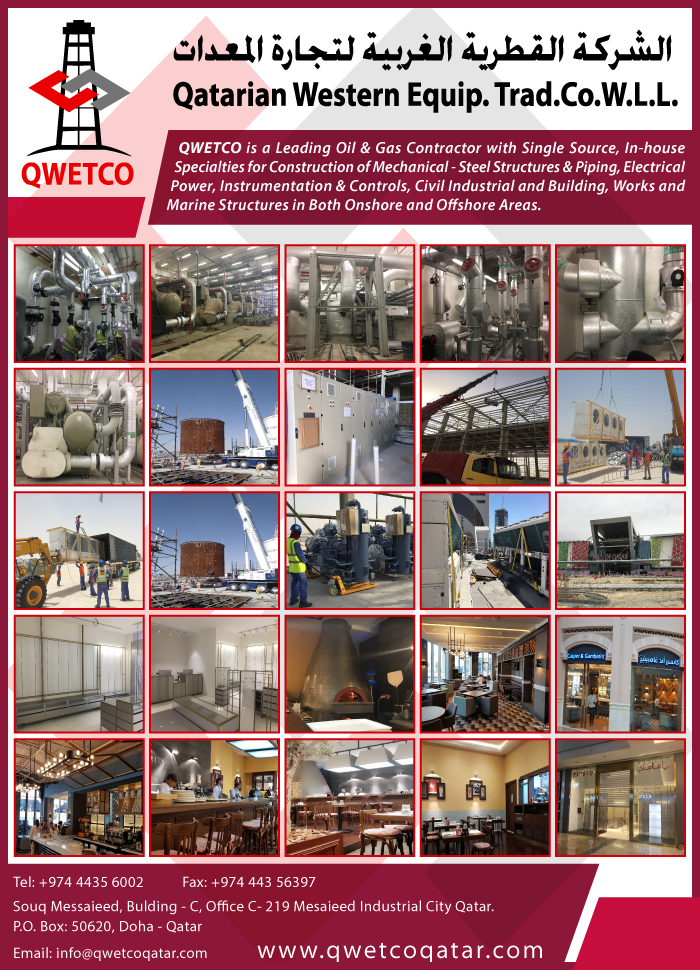 OIL & GAS CONSTRUCTION & MAINTENANCE CONTRACTORS QATARIAN WESTERN EQUIP TRAD CO WLL SUPPLIERS IN DOHA QATAR CLFP