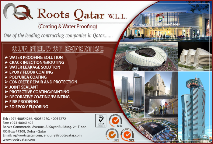 PAINTERS & PAINTING CONTRACTORS ROOTS QATAR WLL ( PAINTING & WATERPROOFING DIV ) SUPPLIERS IN DOHA QATAR CL1/2H