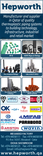 PIPE & PIPE FITTING SUPPLIERS HEPWORTH PME (QATAR) WLL SUPPLIERS IN DOHA QATAR WSRBBA