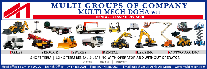 PLANT HIRE MULTI MECH DOHA WLL SUPPLIERS IN DOHA QATAR CL1/4H