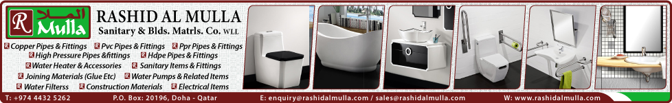PLUMBING MATERIAL SUPPLIERS RASHID AL MULLA SANITARY & BUILDING MATERIALS CO WLL SUPPLIERS IN DOHA QATAR WSTBBA