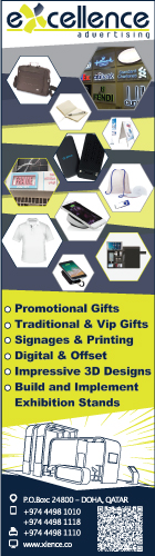 PROMOTIONAL GIFTS EXCELLENCE ADVERTISING SUPPLIERS IN DOHA QATAR WSLBBA