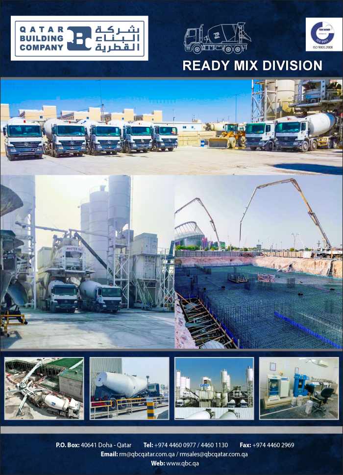 READYMIX QATAR BUILDING CO ( READYMIX DIV ) SUPPLIERS IN DOHA QATAR CLFP