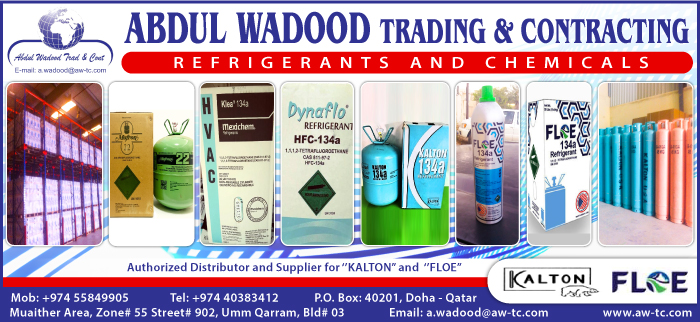 REFRIGERANT GASES ABDUL WADOOD TRADING & CONTRACTING SUPPLIERS IN DOHA QATAR