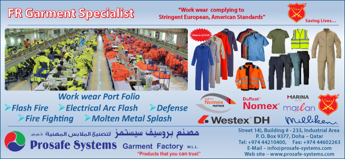 SAFETY EQUIPMENT AND CLOTHING PROSAFE SYSTEMS GARMENT FACTORY SUPPLIERS IN DOHA QATAR CL3H