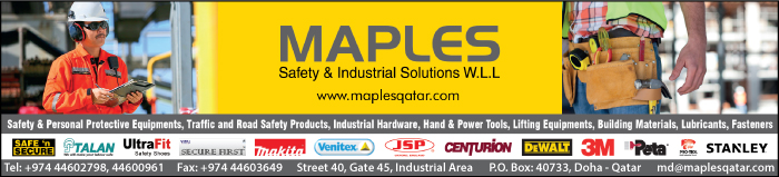 SAFETY EQUIPT & CLOTHING MAPLES SAFETY & INDUSTRIAL SOLUTIONS WLL SUPPLIERS IN DOHA QATAR CLPL
