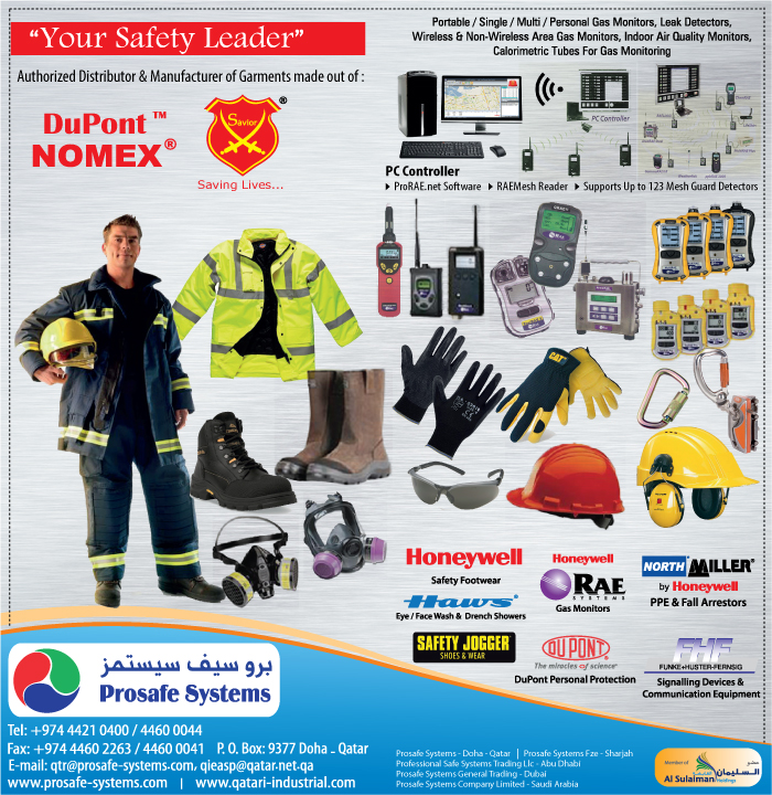 SAFETY EQUIPT & CLOTHING PROSAFE SYSTEMS SUPPLIERS IN DOHA QATAR CL3/4H