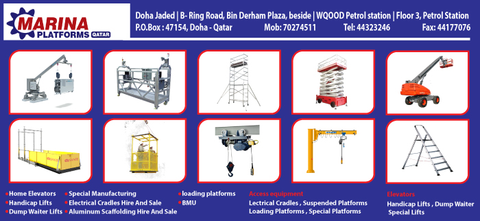 SCAFFOLDING SUPPLIERS AL MARINA PLATFORMS QATAR SUPPLIERS IN DOHA QATAR CL3H