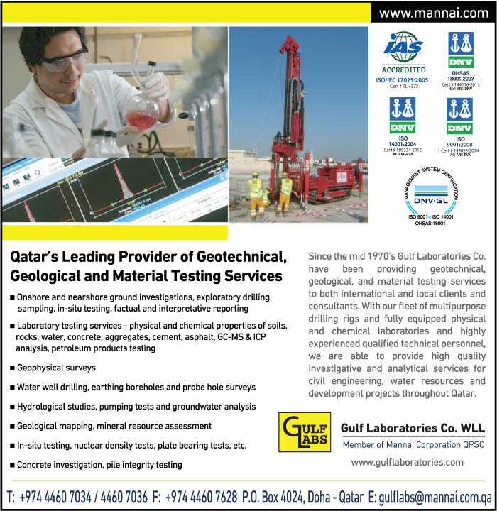 SITE INVESTIGATION SERVICES GULF LABORATORIES CO WLL SUPPLIERS IN DOHA QATAR