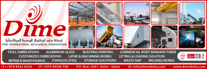 STEEL FABRICATORS & ENGINEERS DIME INTERNATIONAL MECHANICAL ENGINEERING SUPPLIERS IN DOHA QATAR CL1/4H