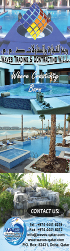 SWIMMING POOL CONTRACTORS WAVES TRADING & CONTRACTING WLL SUPPLIERS IN DOHA QATAR WSLBBA