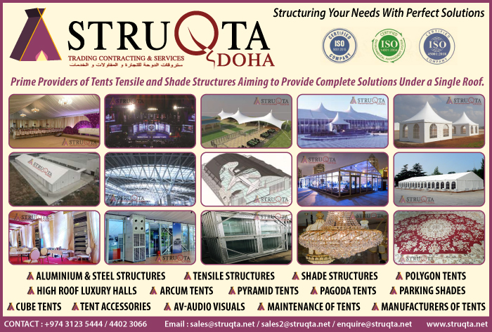 TENTS STRUQTA DOHA TRADING CONTRACTING & SERVICES SUPPLIERS IN DOHA QATAR CL1/2H