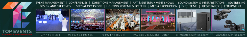 TOP EVENTS ( EXHIBITIONS & MEDIA PRODUCTION ) SUPPLIERS IN DOHA QATAR