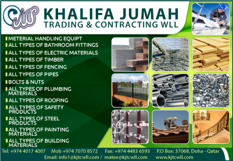 TRADING COMPANIES KHALIFA JUMAH TRADING & CONTRACTING WLL SUPPLIERS IN DOHA QATAR CL2H