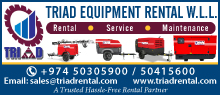 TRIAD EQUIPMENT RENTAL SUPPLIERS IN DOHA QATAR