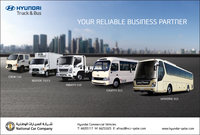 TRUCK DEALERS NATIONAL CAR COMPANY (HYUNDAI TRUCK & BUS) SUPPLIERS IN DOHA QATAR CL1/2H