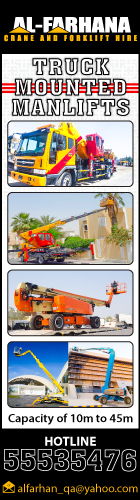 TRUCK MOUNTED MANLIFTS AL FARHANA TRADING & TRANSPORT CO WLL SUPPLIERS IN DOHA QATAR WSRBBA