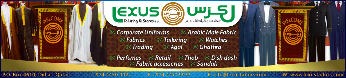 UNIFORM MANUFACTURERS & SUPPLIERS LEXUS TAILORING & STORES WLL SUPPLIERS IN DOHA QATAR CLPL
