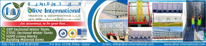 WATER TANKS OLIVE INTERNATIONAL TRADING & CONTRACTING LLC SUPPLIERS IN DOHA QATAR CLPL