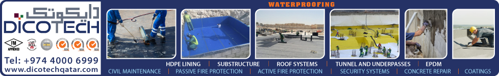 WATERPROOFING CONTRACTORS & SERVICES DICOTECH QATAR WLL SUPPLIERS IN DOHA QATAR WSTBBA