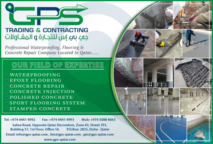 WATERPROOFING CONTRACTORS & SERVICES GPS TRADING & CONTRACTING SUPPLIERS IN DOHA QATAR CL1/2H
