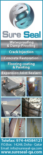 WATERPROOFING CONTRACTORS & SERVICES SURE SEAL TRADING & CONTRACTING WLL SUPPLIERS IN DOHA QATAR WSRBBA
